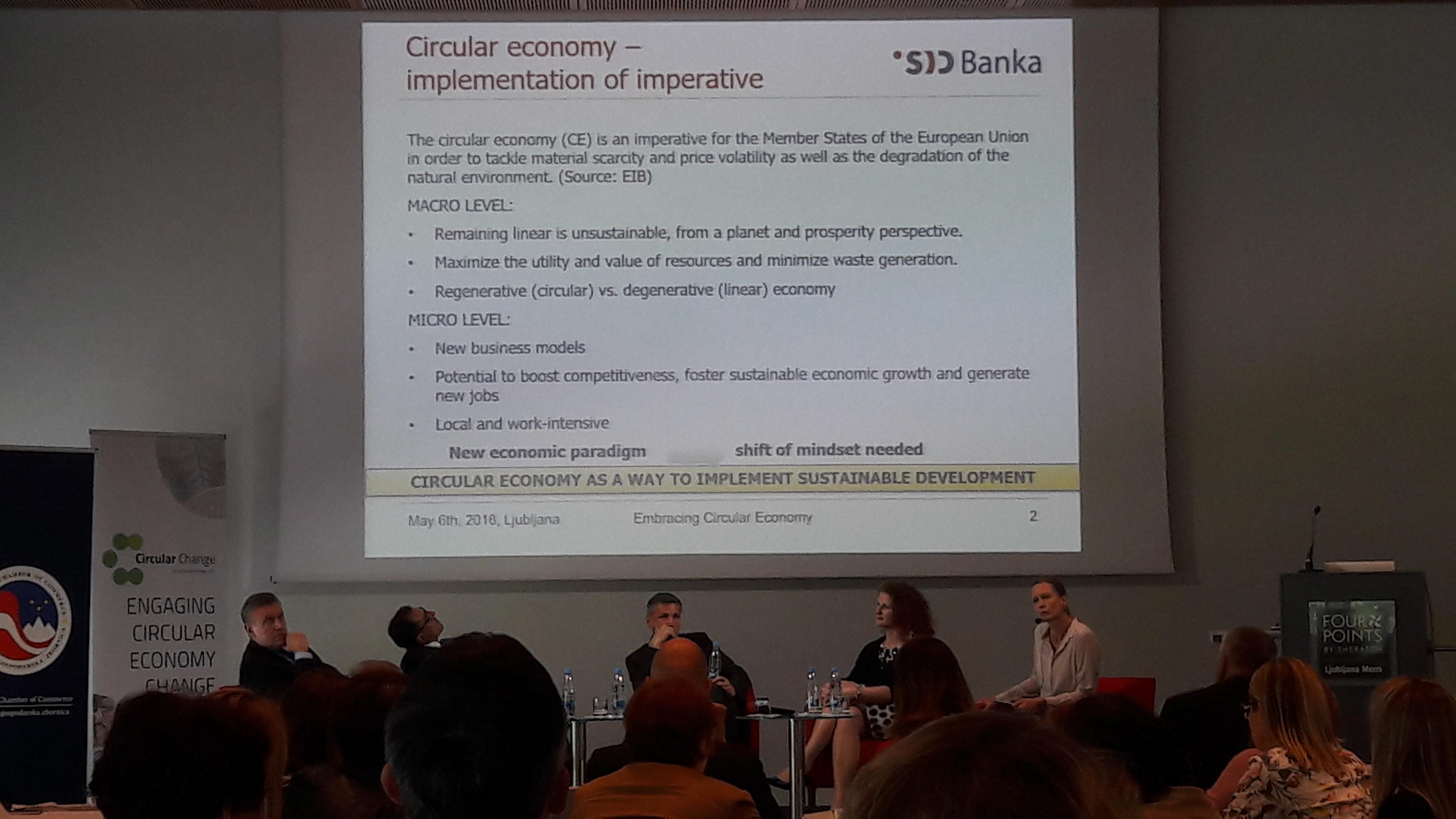Konferenca o krožnem gospodarstvu, Ljubljana 6.5.2016