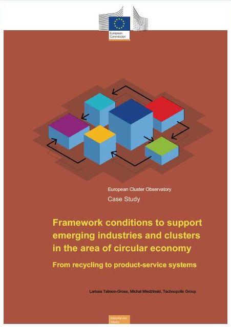 Okvirni pogoji za podporo nastajajočim gospodarskim panogam in grozdom na področju krožnega gospodarstva