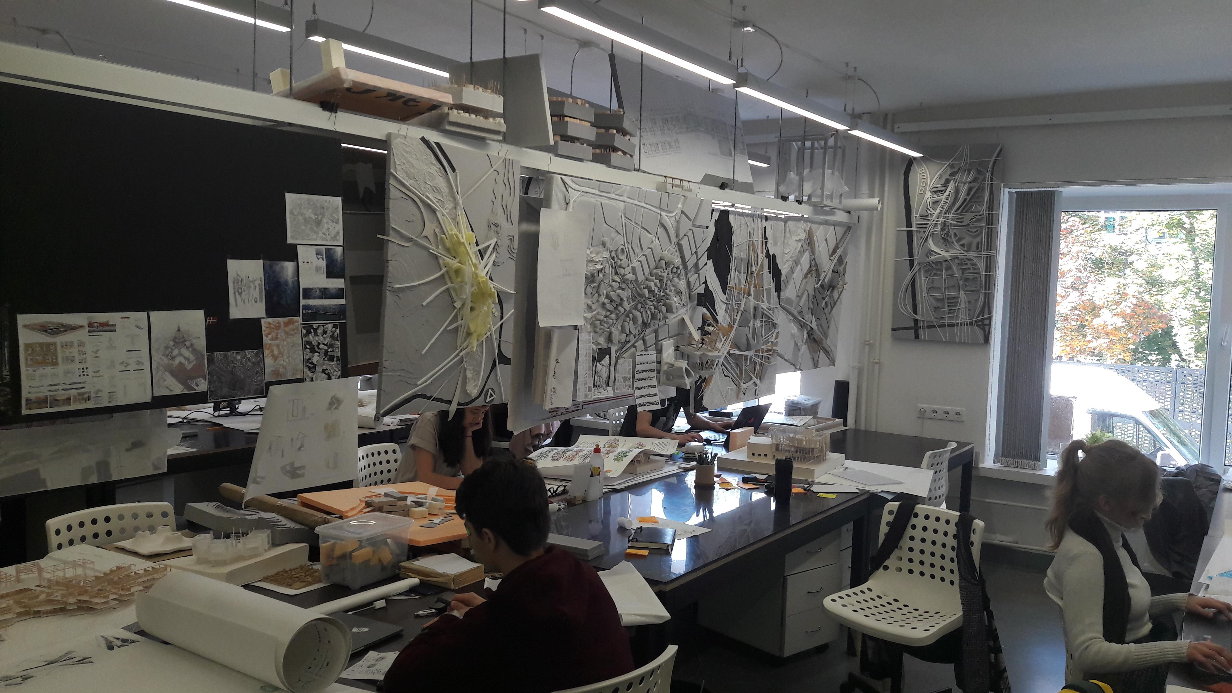 Sodobna učilnica za študij arhitekture