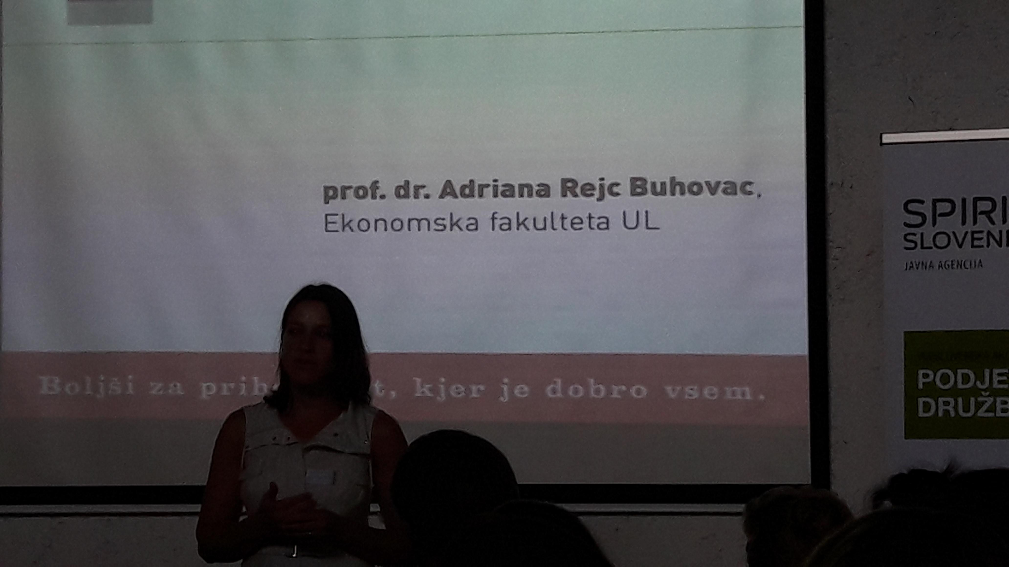 Vzpostavljanje trajnostnih poslovnih modelov v praksi - Dr. Adriana Rejc Buhovac 1